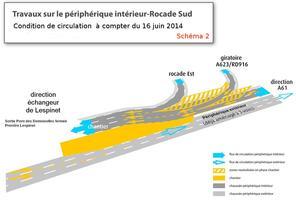 A partir du vendredi 13 06 14 fermeture du p riph rique for Peripherique interieur exterieur