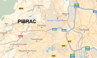 Carte de situation de Pibrac